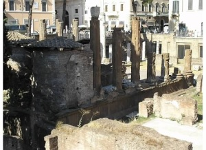 The temples of the Largo di Argentina, Rome.