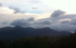 The Macgiollacuddyreeks - taken while lying on my hotel bed looking out of the window